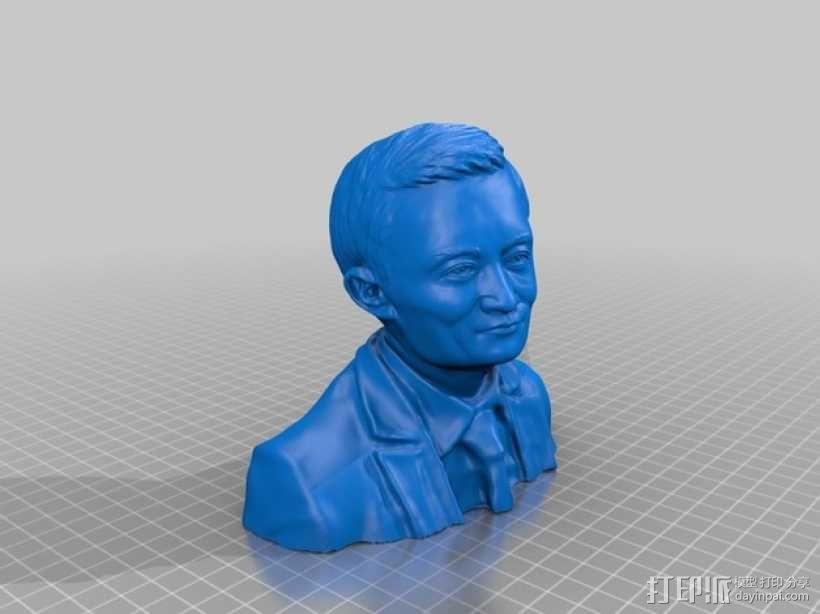 马云 阿里巴巴CEO 中国首富 3D模型  图1