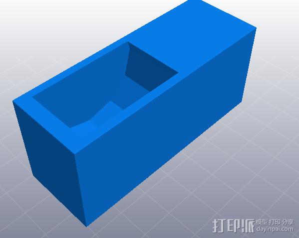 小书橱 3D模型  图1