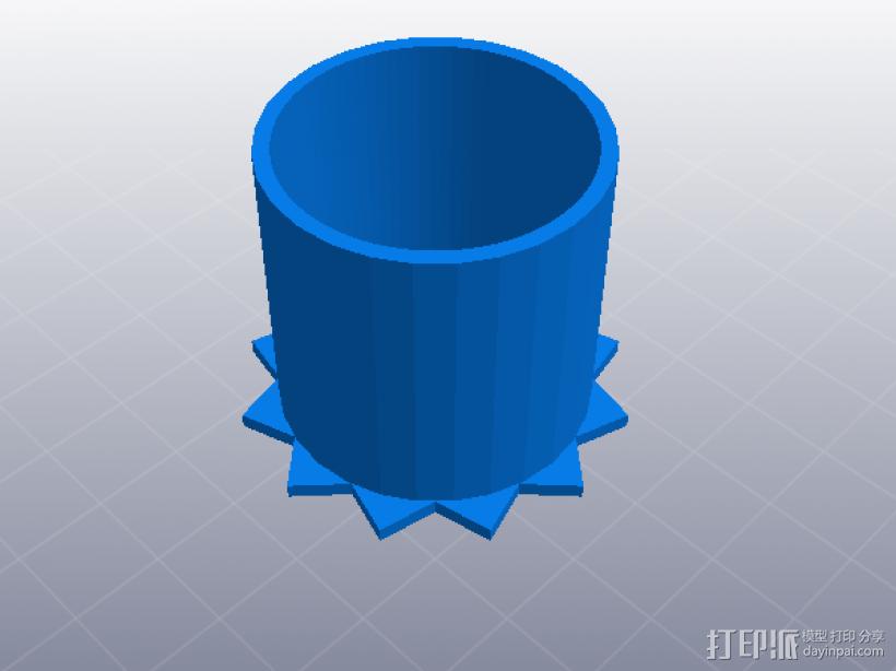 牙签筒 3D模型  图1