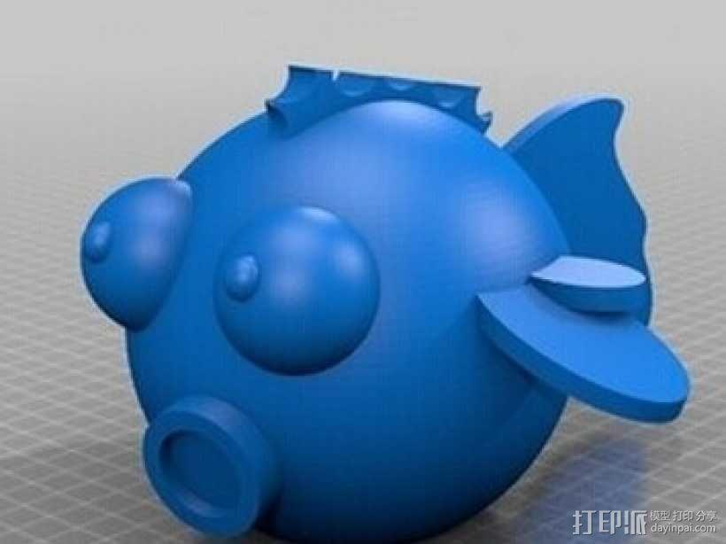 嘻哈鱼 3D模型  图1