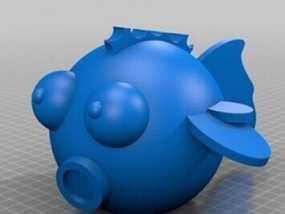 嘻哈鱼 3D模型
