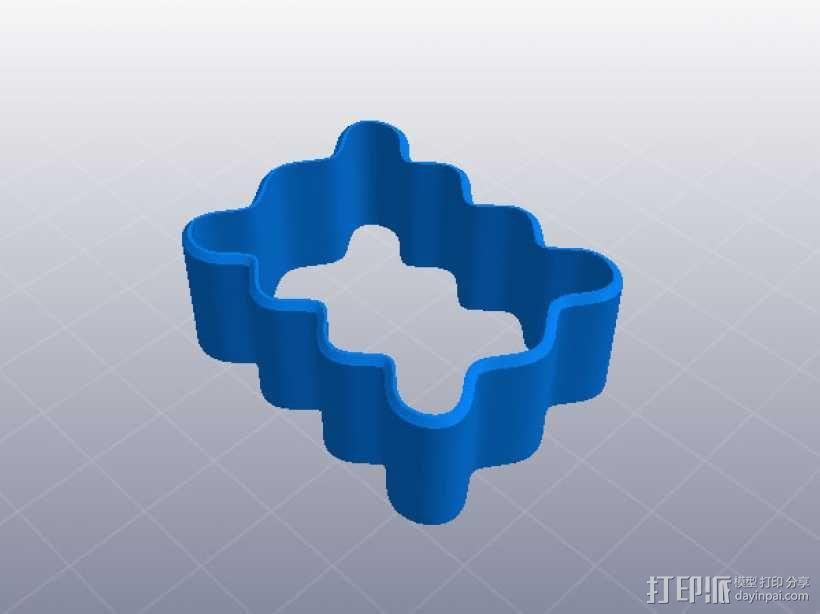 饼干模具 3D模型  图1