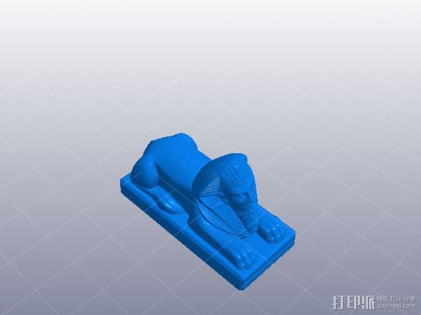 金子塔狮子 3D模型  图1