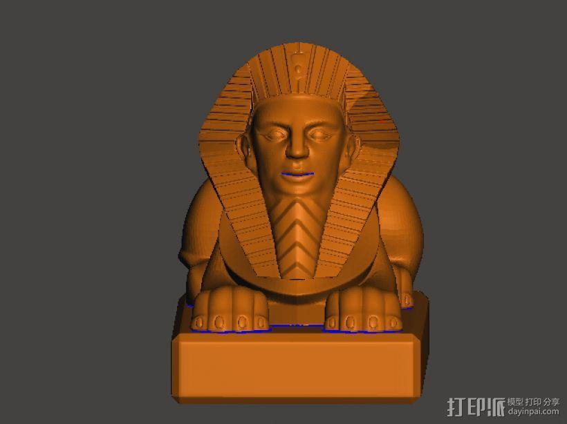 金子塔狮子 3D模型  图2
