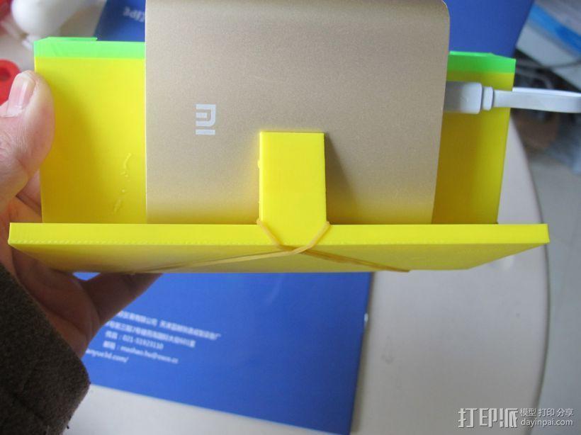 小米手机支架  背面还有充电宝的位置 解放您的双手 3D模型  图4