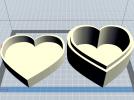 心形盒子 3D模型 图1