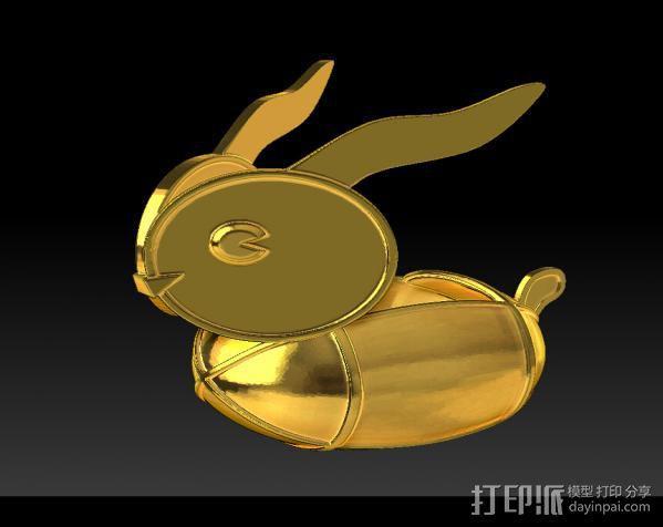兔子灯 3D模型  图2