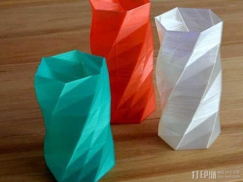 方形花瓶 3D模型  图1