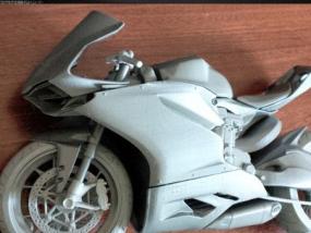 组装摩托 3D模型