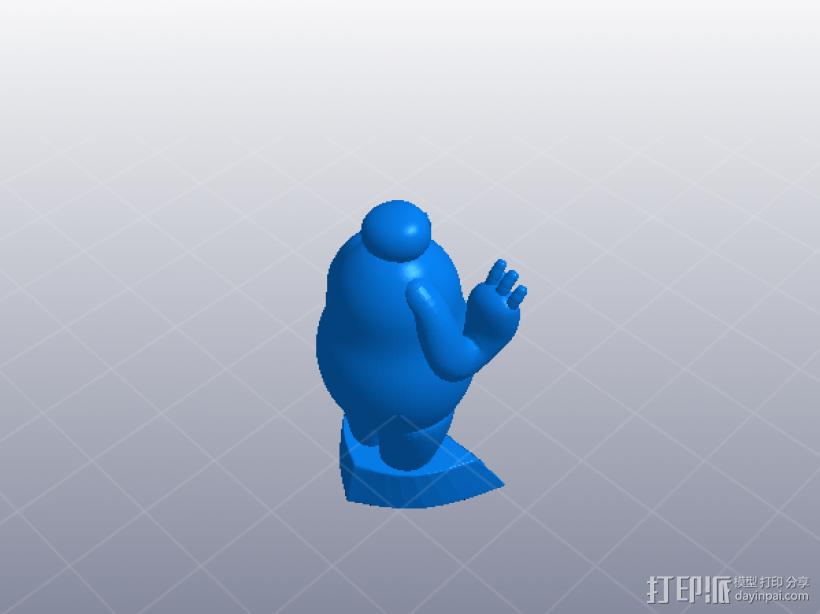 超能陆战队大白胖子 3D模型  图1