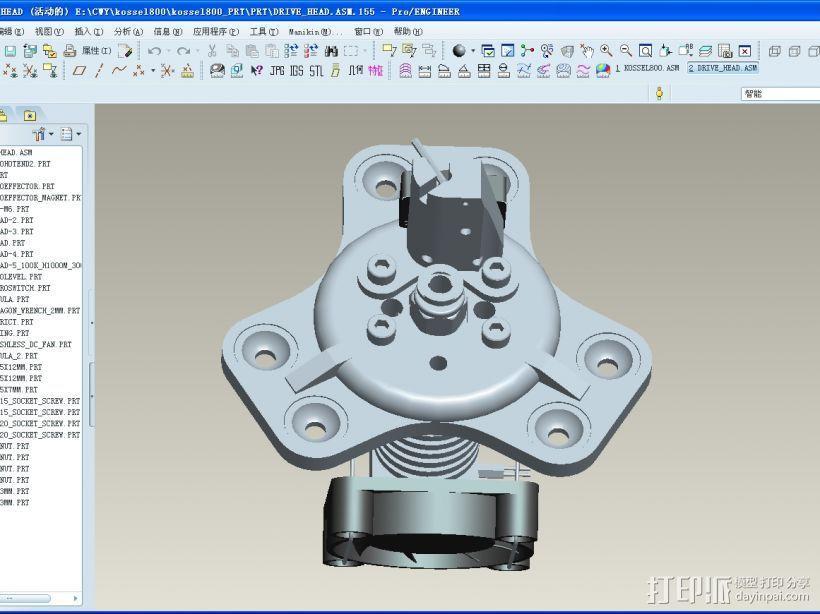 K800 3D打印机3D模型 3D模型  图3