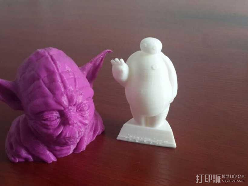超能陆战队大白胖子玩偶 3D打印制作  图2