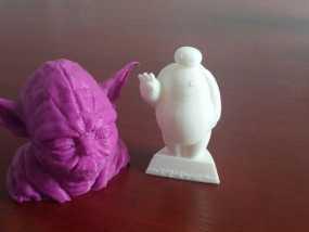 超能陆战队大白胖子玩偶 3D打印制作