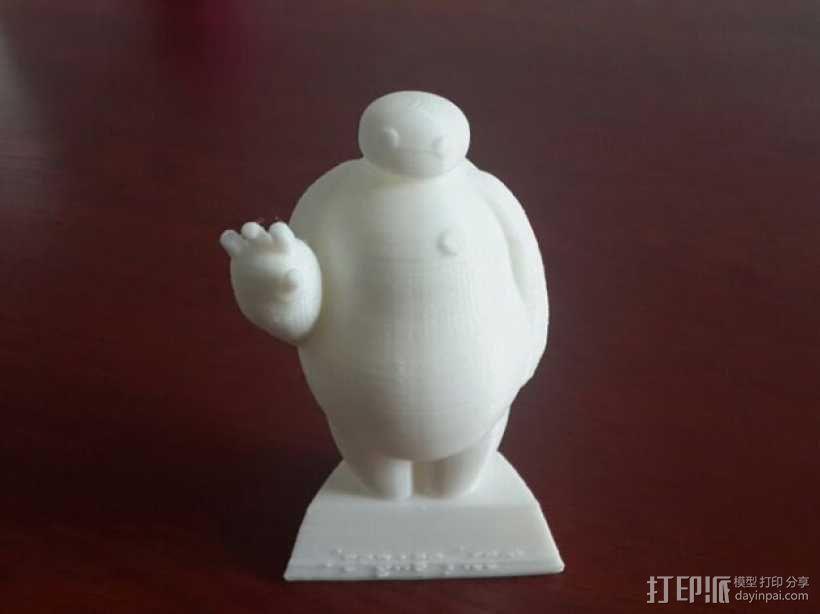 超能陆战队大白胖子玩偶 3D打印制作  图5