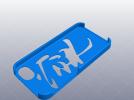iphone 5_5s 宁静以致远手机壳 3D模型 图1