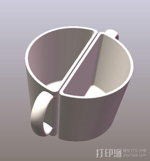 对半艺术杯 3D模型  图1