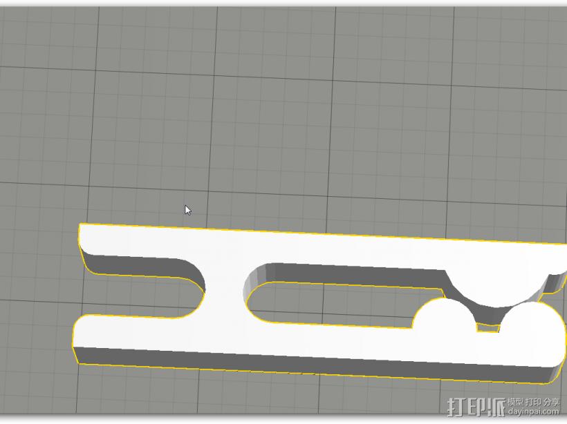 夹子 3D模型  图1