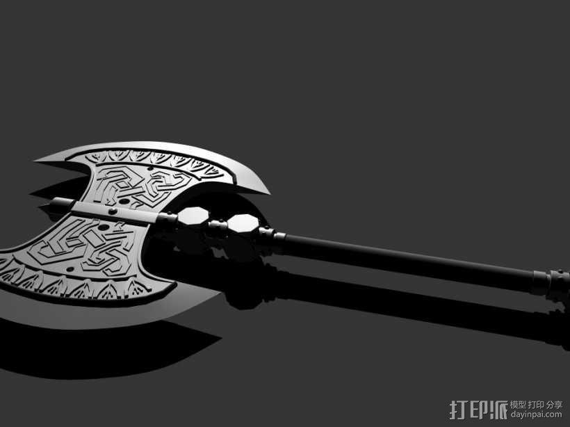 斧头 3D模型  图1