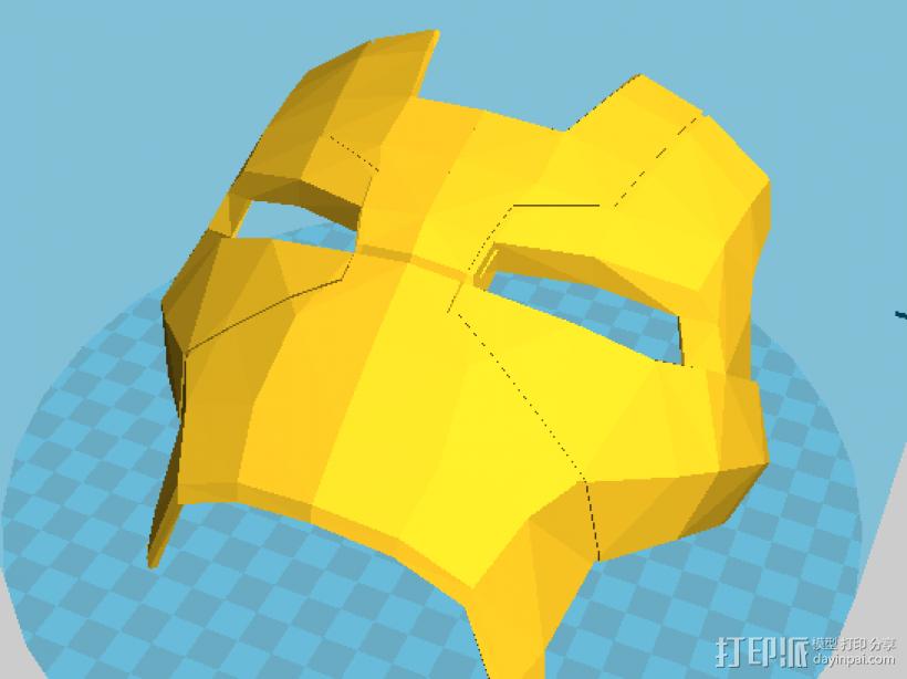 钢铁侠MK17面具 3D模型  图1