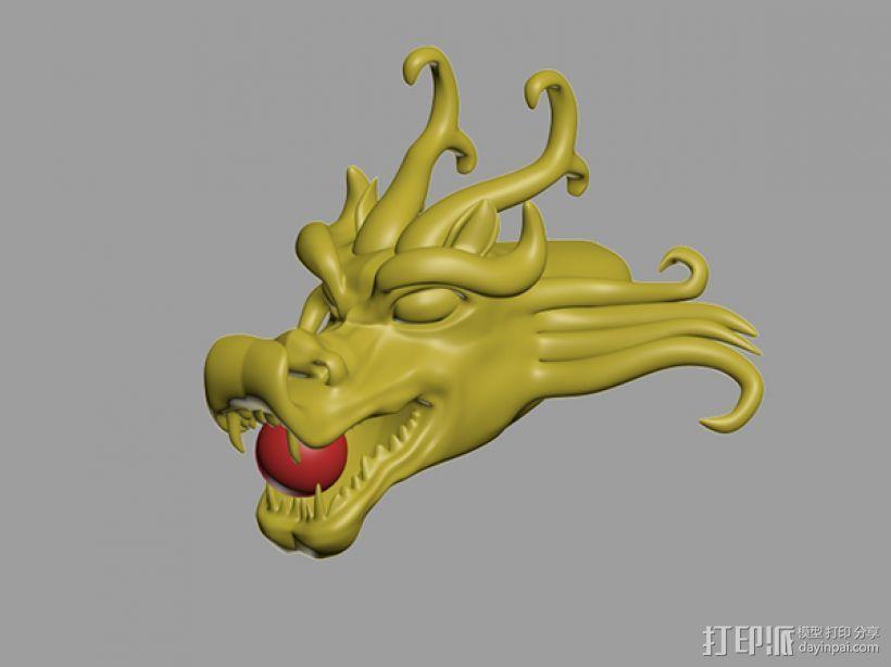 地动仪 龙头部分 3D模型  图1