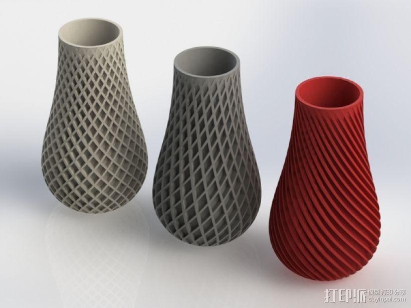 三种风格花瓶 3D模型  图1