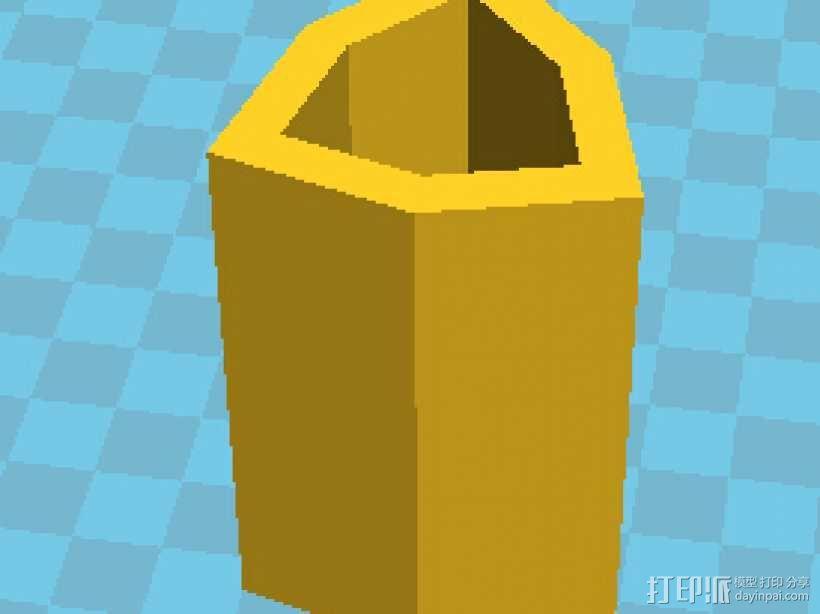 复三方柱 3D模型  图1
