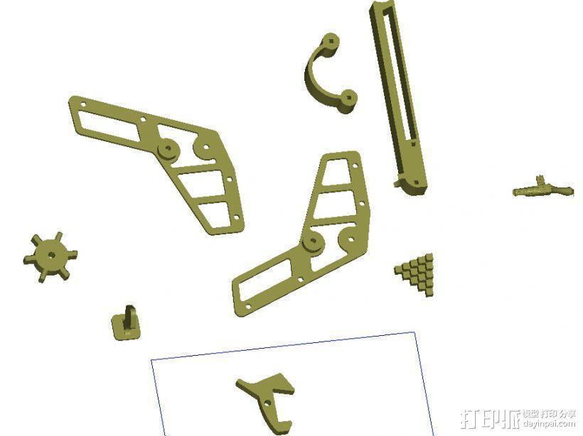 橡皮筋手枪 3D模型  图1