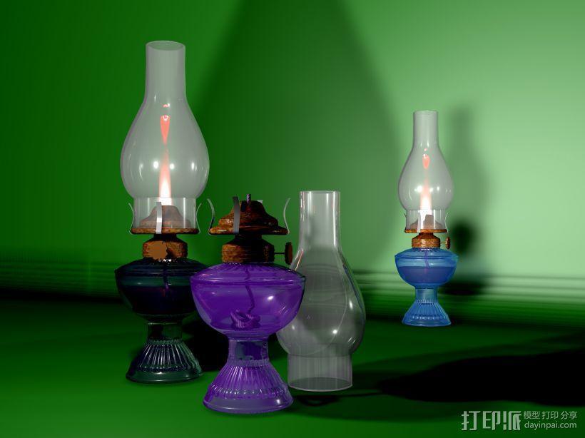 油灯 3D模型  图1