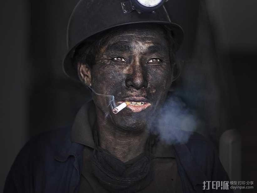 煤炭 矿工 人物形象 3D模型  图1