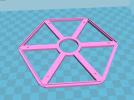 灯罩架 3D模型 图1