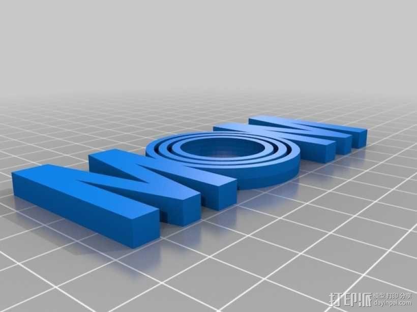 英文MOM 万向节 3D模型  图3