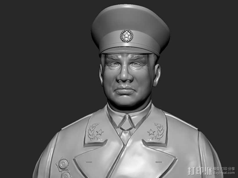 十大元帅 之 朱德 半身雕塑 3D模型  图1