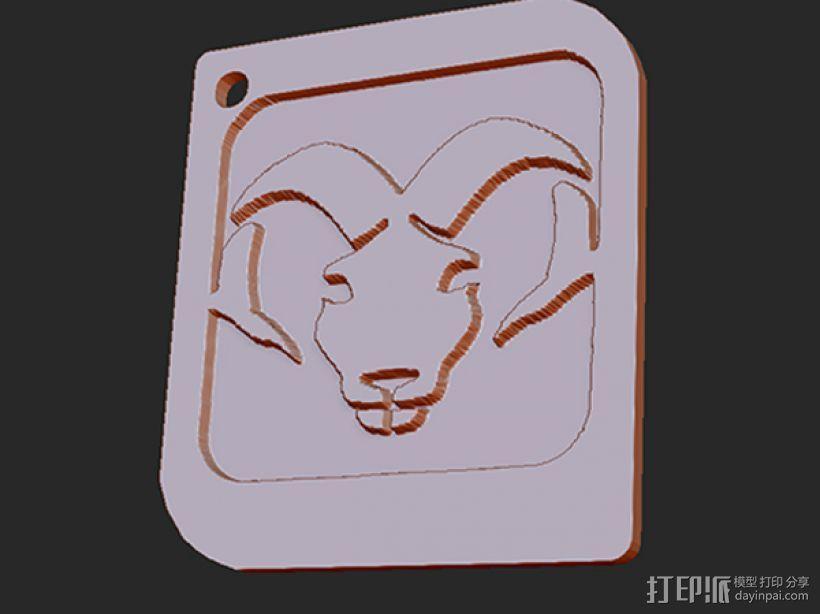 十二星座 系列 之 白羊座 3D模型  图1