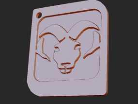 十二星座 系列 之 白羊座 3D模型