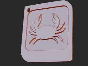 十二星座 系列 之 巨蟹座 3D模型
