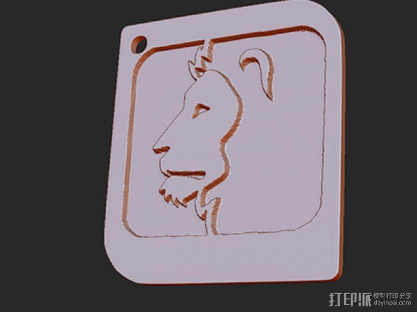 十二星座 系列 之 狮子座 3D模型  图1