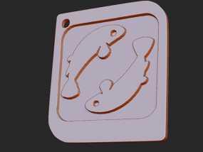 十二星座 系列 之 双鱼座 3D模型