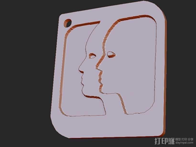 十二星座 系列 之 双子座 3D模型  图1