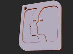 十二星座 系列 之 双子座 3D模型