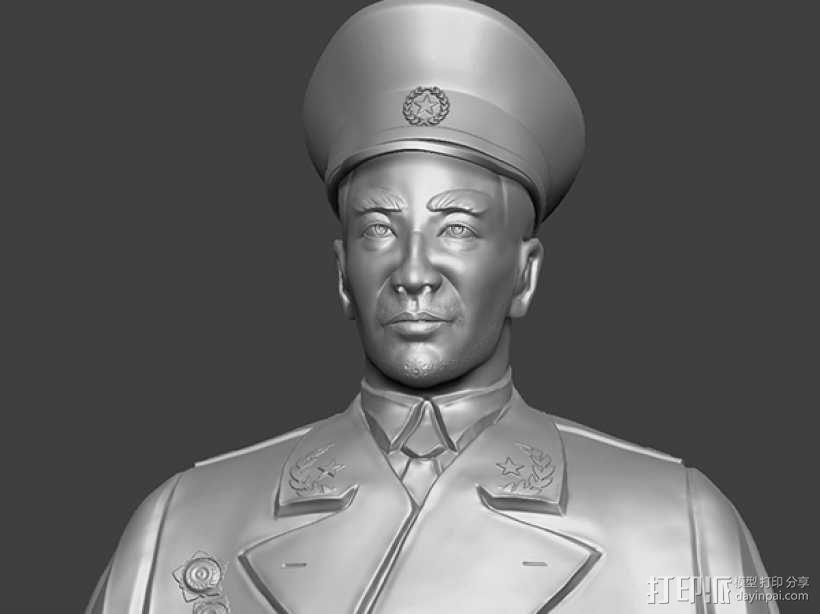 十大元帅 之 林彪 半身雕塑 3D模型  图1