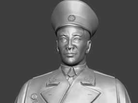 十大元帅 之 林彪 半身雕塑 3D模型