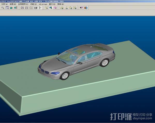 车内摆设—BMW-7 3D模型  图4
