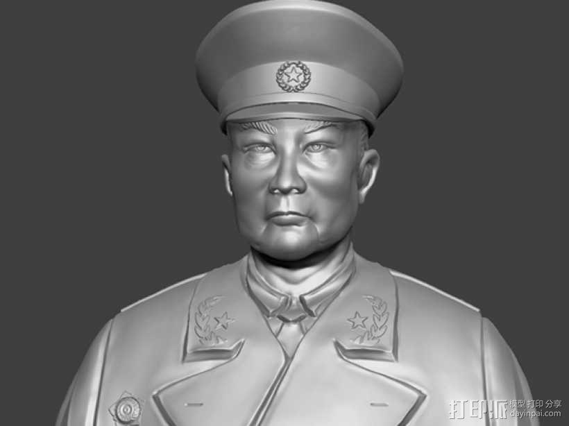 十大元帅 之 叶剑英 半身雕塑 3D模型  图1