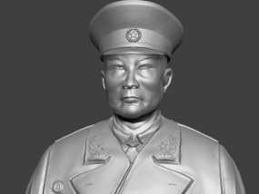 十大元帅 之 叶剑英 半身雕塑 3D模型