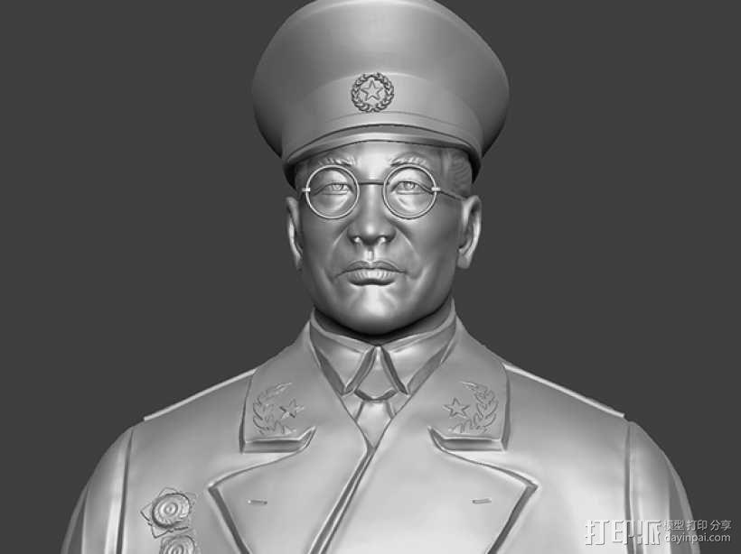 十大元帅 之 徐向前 半身雕塑 3D模型  图1