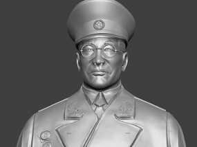 十大元帅 之 徐向前 半身雕塑 3D模型