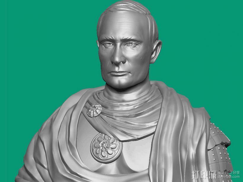 俄罗斯 总统 普京 罗马大帝造型雕像 3D模型  图1
