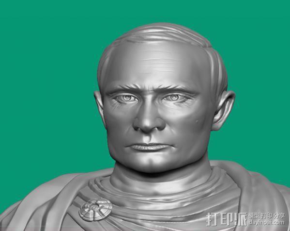俄罗斯 总统 普京 罗马大帝造型雕像 3D模型  图2
