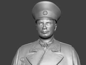 十大元帅 之 聂荣臻 半身雕塑 3D模型