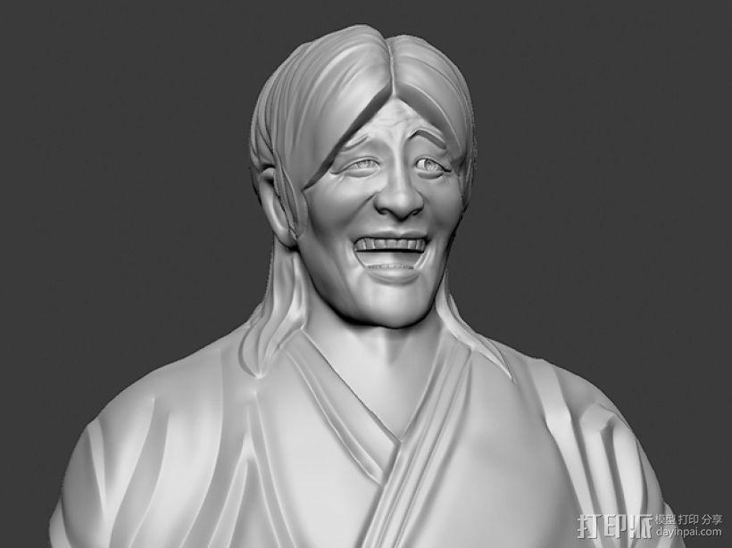 表情三巨头 表情帝 之 金馆长 崔成国 3D模型  图1
